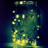 lightning bugs in jar