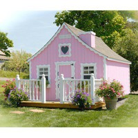 Little Cottage Company Gingerbread Playhouse Kit with No Floor