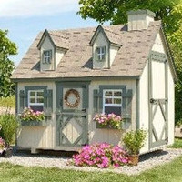 Little Cottage Company Small 4 x 6 Cape Cod Playhouse Kit with Floor