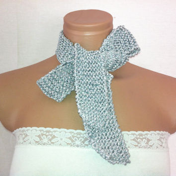 StOcK CleAranCe SaLe-31% OFF-WAS 12.90USD-Silver stylish scarf