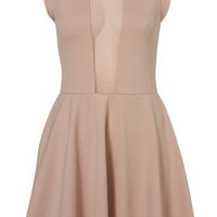 Mesh Insert Skater Dress By Dress Up Topshop** - Dresses  - Apparel  - Topshop USA
