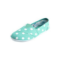 Polka Dot Wrap Canvas Flat: Charlotte Russe