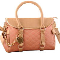 OASAP - Sweet Check Handbag with Zipped Contrast Color Flap - Street Fashion Store