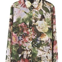 Rivets Printing Loose Shirt S010174