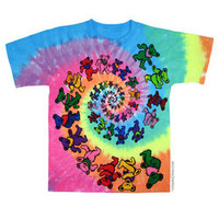 Grateful Dead - Spiral Bears Tie Dye T Shirt on Sale for $24.95 at The Hippie Shop