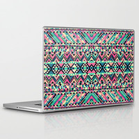 Pink Turquoise Girly Aztec Andes Tribal Pattern Laptop &amp; iPad Skin by Railton Road | Society6