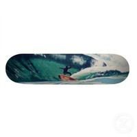 Surfing Surfer Surf the Earth Beach Skate Board from Zazzle.com