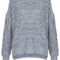 Knitted Tweedy Slouch Jumper - New In This Week  - New In