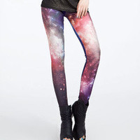 Sexy Galaxy Colorful Sky Space Tie Dye Leggings Pants Tight LB13256 S/M L/XL