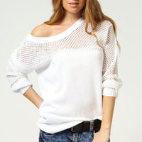 Olivia Meshed Up Knit Jumper