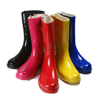 Rain Boots Women Size S Rubber 9 Snow Wellies Womens New Flat Rainboots Styles