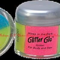 Glow In The Dark Glitter Glow Hair and Body Blue Pink Green Yellow Multi Color