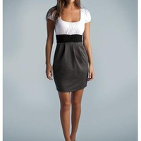 SCOOP NECK COLORBLOCK DRESS