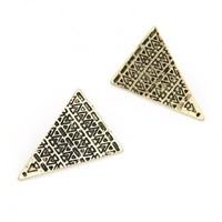 Vintage Aztec Pattern Earrings