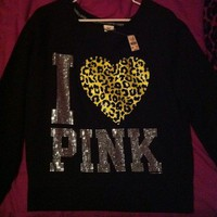 Victorias Secret Pink Limited Edition Bling Crew All Crystals NWT