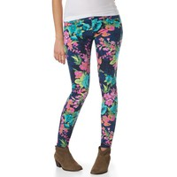 Ashley Ultra Skinny Saturated Floral Print Jean - Aeropostale