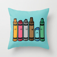 Overused Throw Pillow by Budi Satria Kwan | Society6