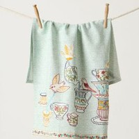 Tweeting Tea Party Dishtowel - Anthropologie.com