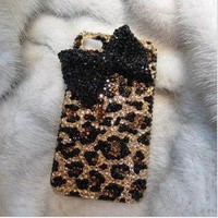Bestgoods  Fashion Leopard Bowknot Hard Cover Case For Iphone 4/4s
