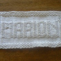 Marion A Hand Knit Personalized Name Dish Cloth or Wash Cloth