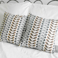 Brown and Black modern decorative pillow covers 16 X 16 inches