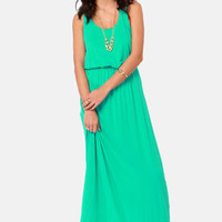 Green Thumb Sea Green Maxi Dress