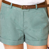 Jacquard Trouser Shorts w/ Belt | FOREVER 21 - 2000042926