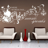 Wall Decals Music Speaks Collage Vinyl by singlestonestudios