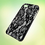LHP008 Lace Pattern design for iPhone 5 Black Plastic Case - leave message for White Case / iPhone 4 or iPhone 4S Case