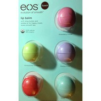 Amazon.com: eos Organic Smooth Sphere Lip Balm - Summer Fruit, Sweet Mint, Strawberry Sorbet, Passion Fruit, Honeysuckle Honeydew (5 Pack): Health &amp; Personal Care