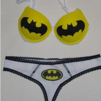 Batman Bra: Standard Bra and Thong