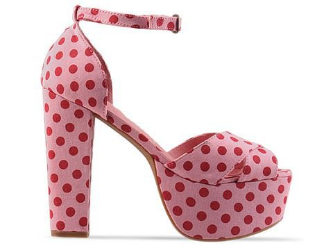 Jeffrey Campbell El Carmen in Pink Red Dot at Solestruck.com