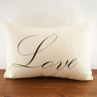Love Hemp and Organic Cotton Cushion Cover by sarahsmiledesign