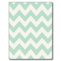 Light Green Chevron Post Cards from Zazzle.com