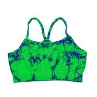 Lizatards Tie Dye Stretch Bra Top