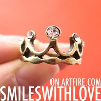 Royal Crown Princess Ring in Bronze Available in Sizes 5, 6, and 6.5