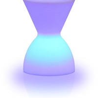 Hourglass Illuminated LED Stool