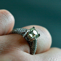 Platinum Diamond Solitaire Engagement Ring by Ruby Gray's | Ruby Gray's