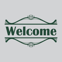 Welcome Entryway Removable Wall Decal Sign Vinyl Wall Art Quote Sticker