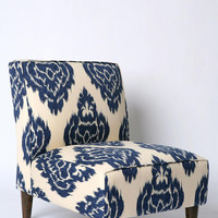Urban Outfitters - Slipper Chair - Indigo Ikat