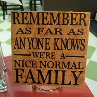 Nice Normal Family 6x6 Decal by TheCraftyGeek86 on Etsy