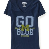 University of Michigan® Go Blue™ V-Neck Graphic T