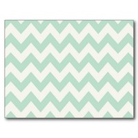 Light Green Chevron Post Card from Zazzle.com