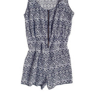 Tribal Challis Romper