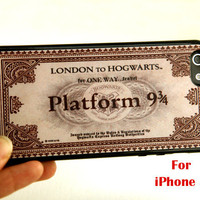 iPhone 5 Case, harry potter iphone 5 case, hogwarts Express Train Ticket  iphone 5 case, hogwarts iphone 5 case,