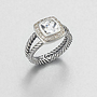 David Yurman - Diamond Accented White Topaz Sterling Silver Ring - Saks Fifth Avenue Mobile