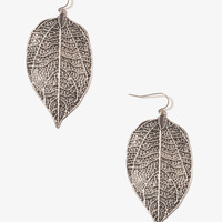 Painted Leaf Earrings