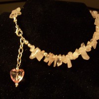 Rose Quartz Ankle Bracelet