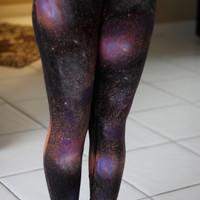 Galaxy Print Leggings PRICE DECREASED and last batch until no more will be made