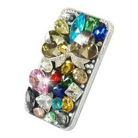New Handmade 3d Rainbow Crystal Bling Case for Iphone 4S
